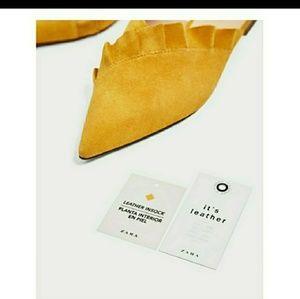 Zara leather mule size 7.5